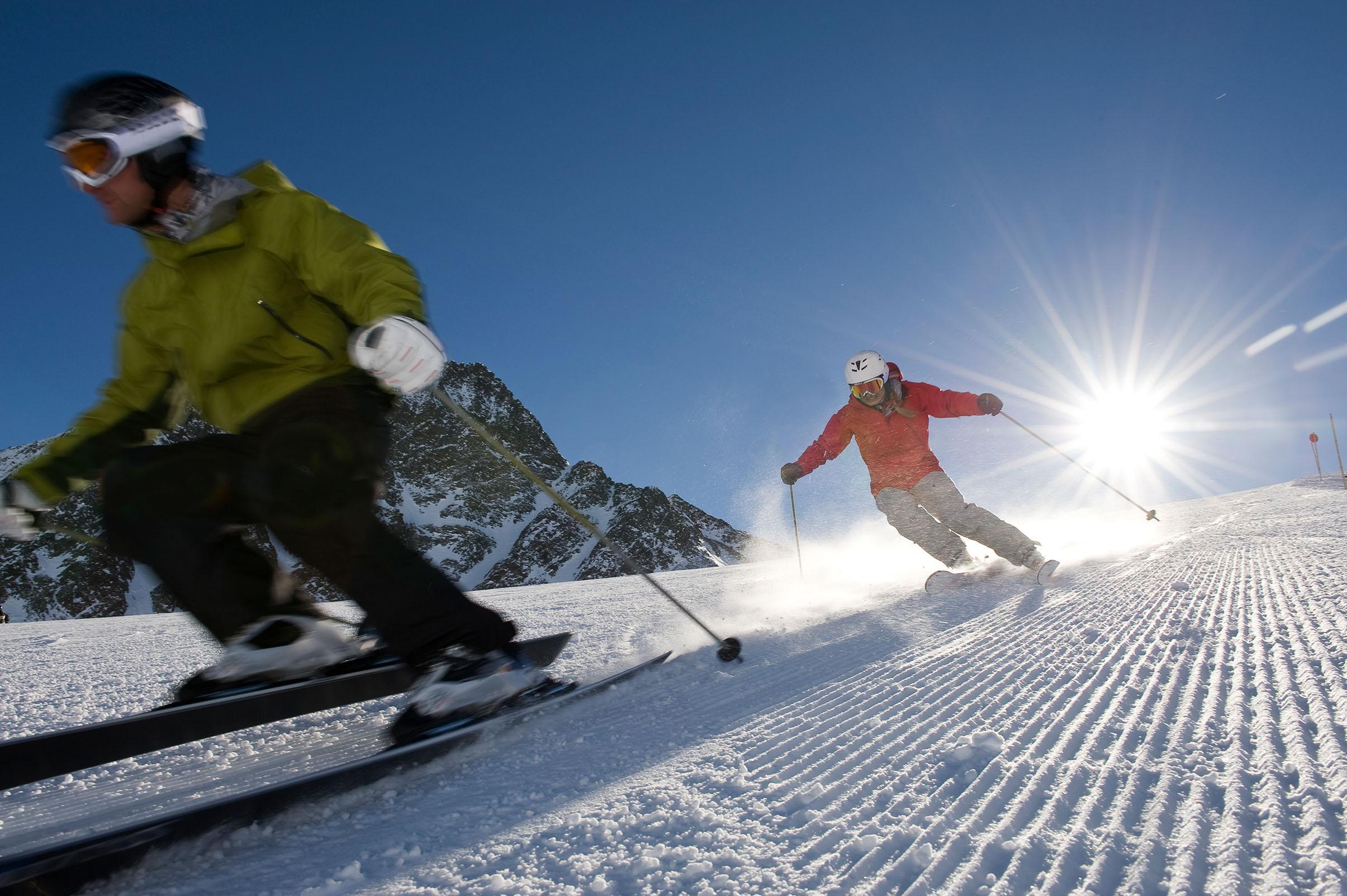 Skischule Seefeld-Mösern - Skifahrer auf Skipiste